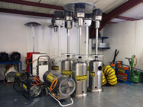 Locoutils location d 39 appareils de chauffage perpignan for Location chauffage exterieur